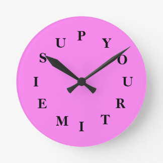 Your Time Is Up Violet Medium Clock by Janz