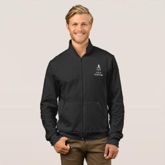 Your Time Men's Dark Fleece Zip Jogger Jacket