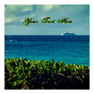 Your Tropical Text Here Poster