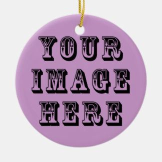 Your Vacation Picture on Round Ceramic Decoration