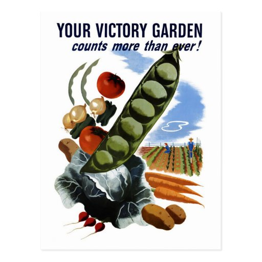 Your Victory Garden Postcard Zazzle