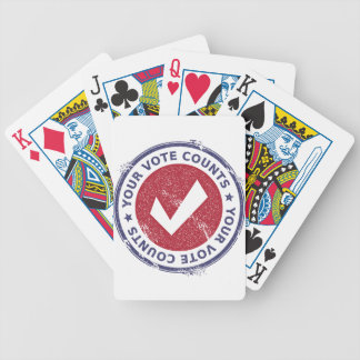 your vote counts bicycle playing cards