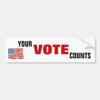 Your Vote Counts Bumper Sticker