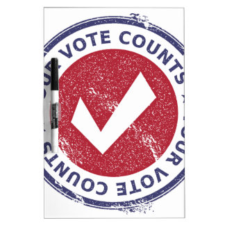 your vote counts Dry-Erase boards