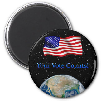 Your Vote Counts - Multiple Products 6 Cm Round Magnet