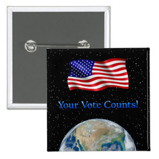 Your Vote Counts - Multiple Products Pinback Button