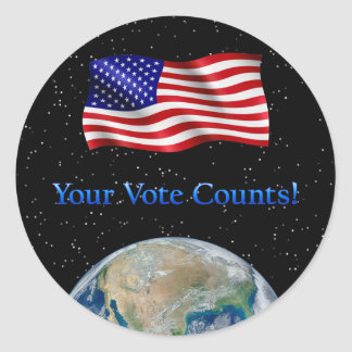 Your Vote Counts - Multiple Products Round Sticker