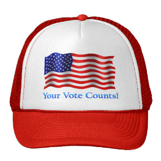 Your Vote Counts - Red Trucker Hat
