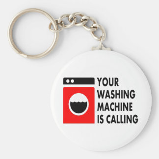 Your Washing Machine is Calling Basic Round Button Key Ring