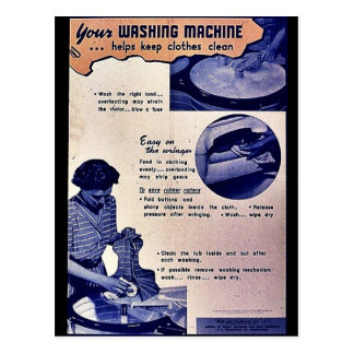 Your Washing Machine Post Card