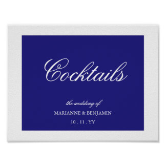 Your Wedding Color Wedding Sign with Name and Date Poster