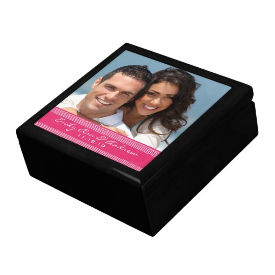Your Wedding or Engagement Photo Anniversary Gift Large Square Gift Box