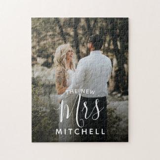 your wedding photo personalized unique keepsake jigsaw puzzle