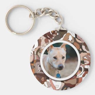 YOUR Wonder Dog Custom Photo Basic Round Button Key Ring