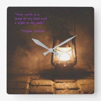 Your word is a lamp square wall clock