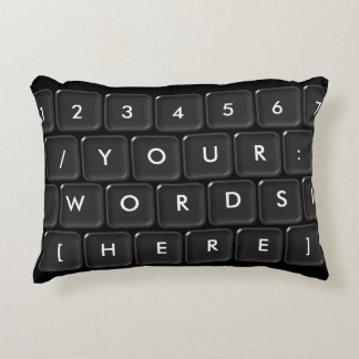 Your Words Here Keyboard Decorative Cushion