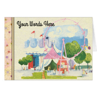 Your Words on Circus Watercolor Card