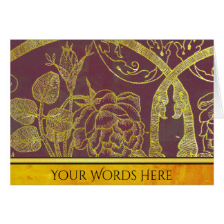 Your Words on Gold Botanical Card