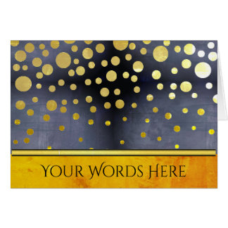Your Words on Gold Confetti Card