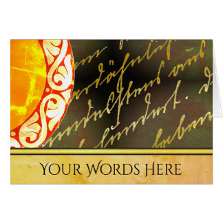 Your Words on Gold Script and Floral Card