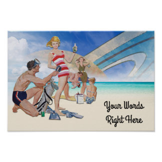 Your Words on this Interplanetary Beach Poster