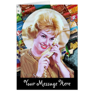 Your Words with 60s Telephone Lady Card