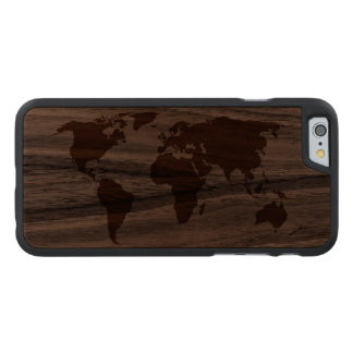 Your World - Carved Walnut iPhone 6 Case