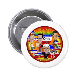 Youra GOP Super Tuesday 6 Cm Round Badge