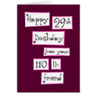 You're 29 again? Fun Add-a-Name Birthday Greeting Card