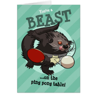 You're A Beast! Ping Pong Binturong Bearcat Card