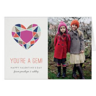 You're a Gem Valentine's Day Card - Cobalt