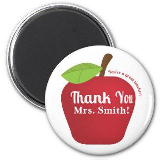 You're a great teacher! Teacher appreciation apple 6 Cm Round Magnet