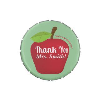 You're a great teacher! Teacher appreciation apple Jelly Belly Candy Tin