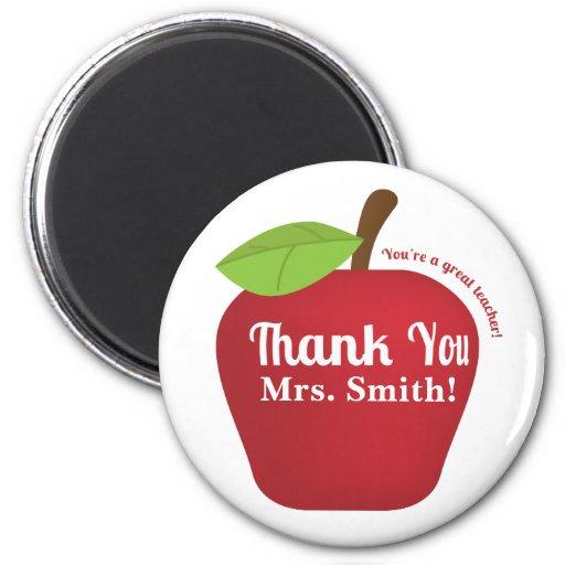 You're a great teacher! Teacher appreciation apple Magnet