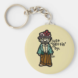 you're a hobo, you don't have keys. basic round button key ring