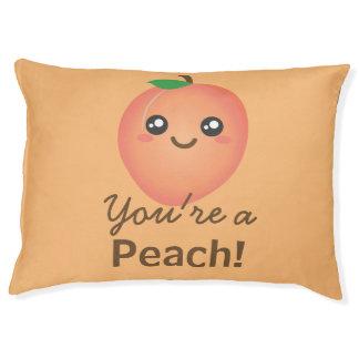 You're a Peach Sweet Kawaii Cute Funny Foodie Pet Bed