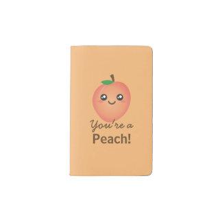 You're a Peach Sweet Kawaii Cute Funny Foodie Pocket Moleskine Notebook