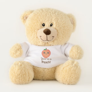 You're a Peach Sweet Kawaii Cute Funny Foodie Teddy Bear