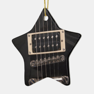 You're a Rock Star Black Electric Guitar Strings Ceramic Ornament