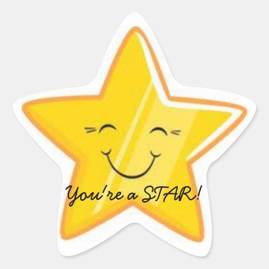 YOU'RE A STAR!!! STAR STICKER | Zazzle.com.au