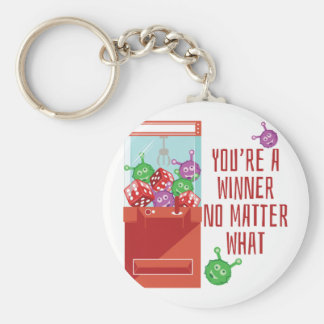 Youre A Winner Basic Round Button Key Ring