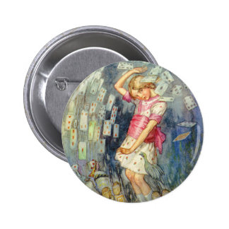 YOU'RE ALL JUST A PACK OF CARDS! 6 CM ROUND BADGE