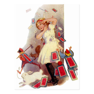 YOU'RE ALL JUST A PACK OF CARDS! POSTCARD