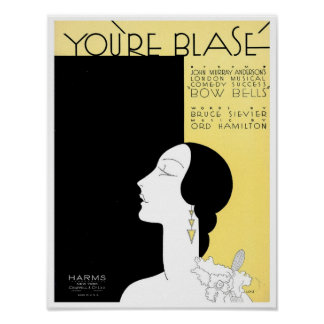 You're Blase Vintage Songbook Cover Poster