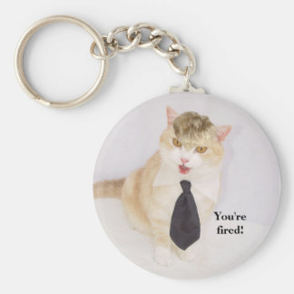 You're fired! basic round button key ring