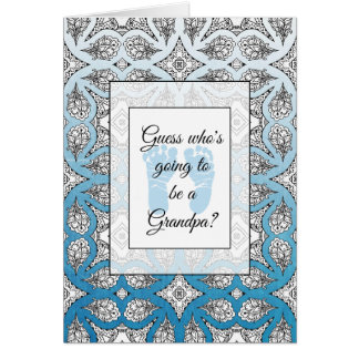You're going to be a Grandpa Announcement card