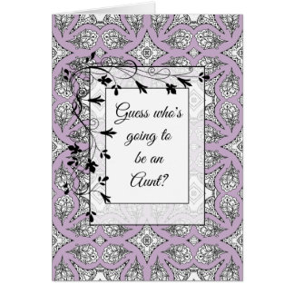 You're going to be an Aunt Announcement card