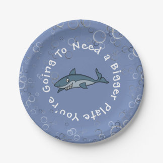"""You're Going To Need A Bigger Plate"" 7 Inch Paper Plate"