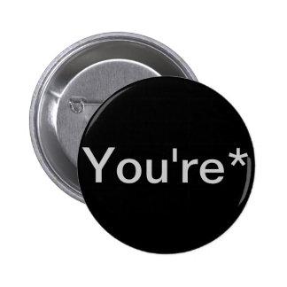 You're* Grammar Nazi 6 Cm Round Badge