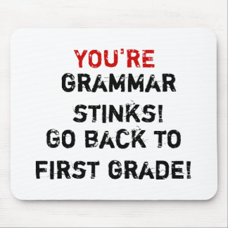 You're Grammar Stinks! Mouse Pad
